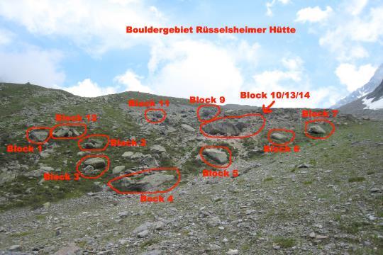 Übersicht Bouldergebiet